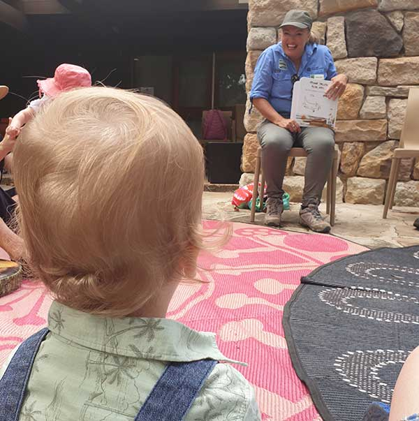 Story time at Wildflower Garden