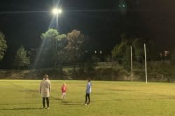 Exercising after dark! North Shore Sports Fields & Ovals with lights on at night