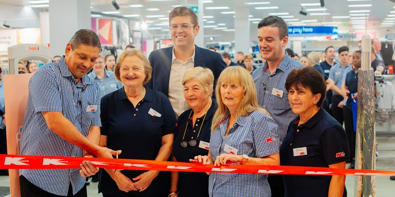 The official opening of Kmart at Macquarie Centre