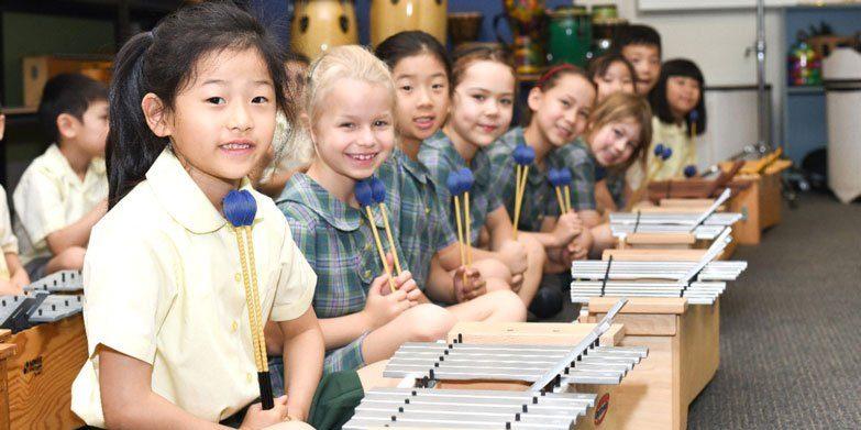 Music class at Killara Public School