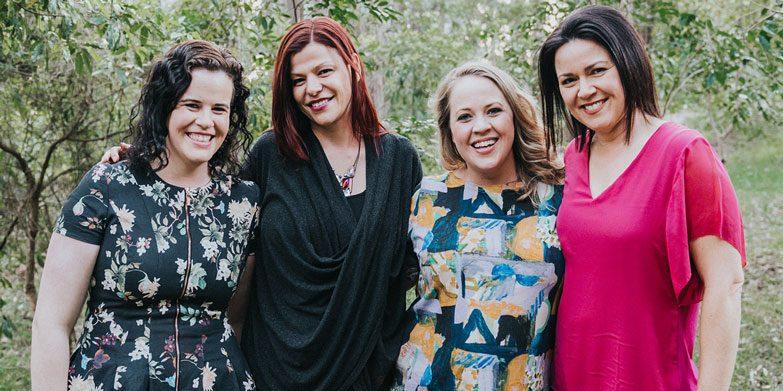 Group of four Sydney mums