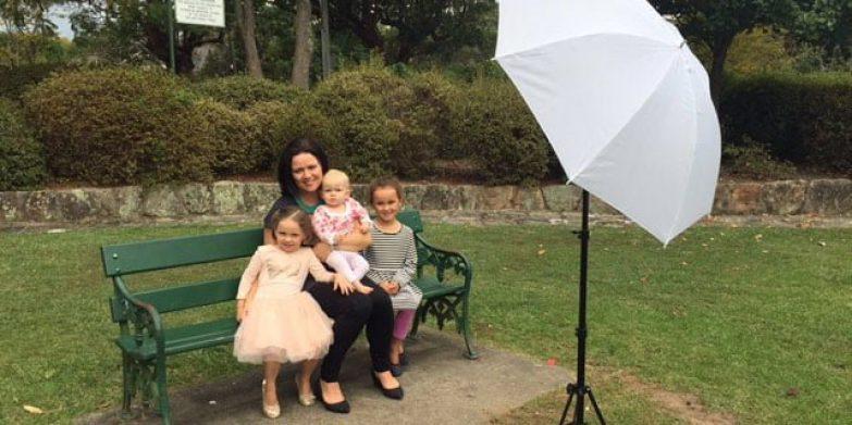 Rachel with her three daughters