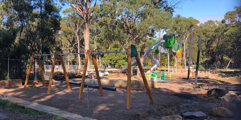 Work is underway on the new playground, yay!