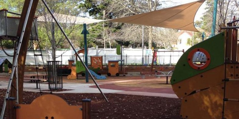 Plenty of play equipment for kids to choose from